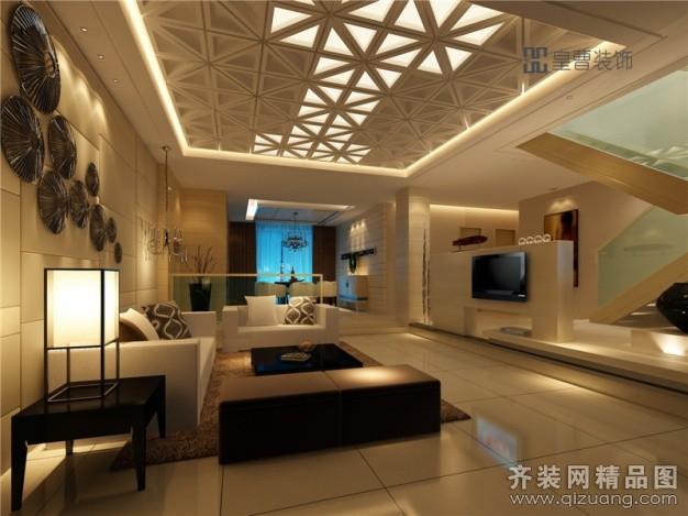 1500平米别墅混搭风格家装装修图片设计-厦门齐装网