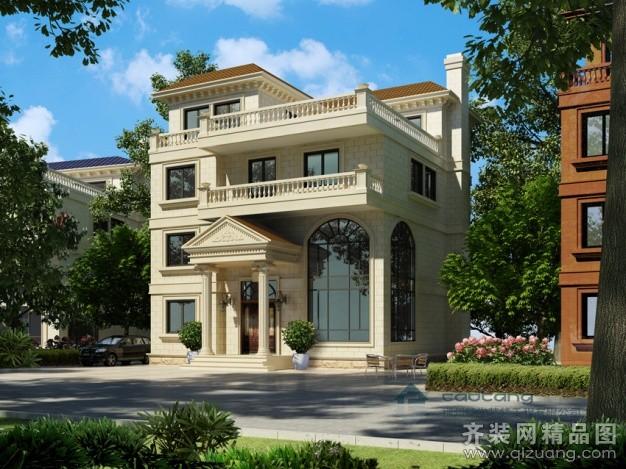 400平米别墅欧式风格家装装修图片设计-福州齐装网