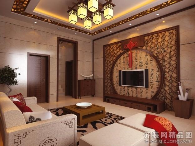 330平米别墅中式风格家装装修图片设计-泰州齐装网