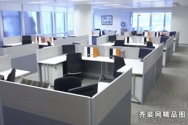 办公现代简约装修效果图实景图