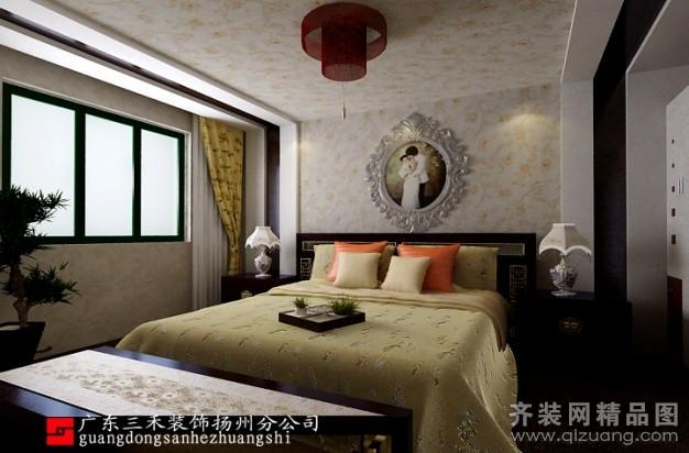 320平米别墅中式风格家装装修图片设计-扬州齐装网