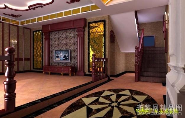 320平米别墅中式风格家装装修图片设计-郑州齐装网