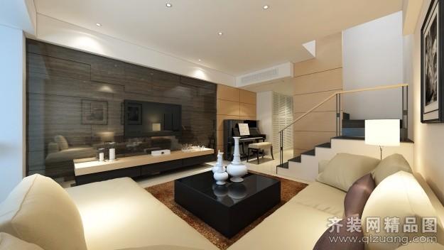120平米跃层户型现代简约家装装修图片设计-温州齐装