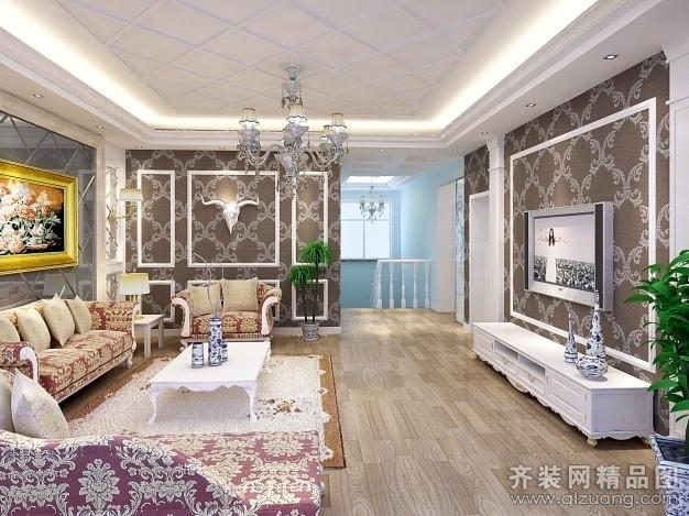 240平米别墅欧式风格家装装修图片设计-扬州齐装网