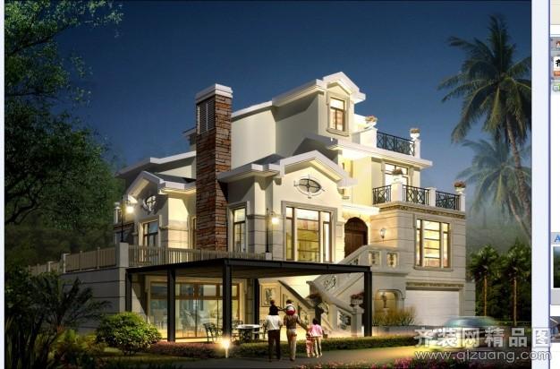 700平米别墅欧式风格家装装修图片设计-苏州齐装网