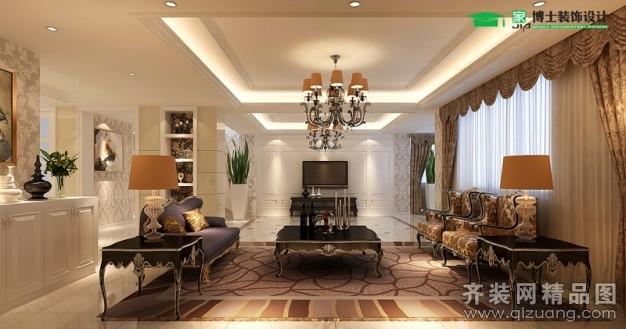 300平米复式户型欧式风格家装装修图片设计-张家港齐