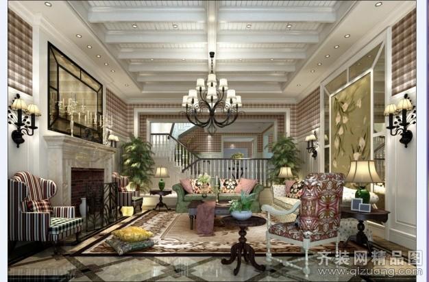 现代园墅英伦风格欧式风格装修效果图实景图