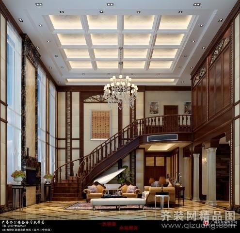 800平米别墅混搭风格家装装修图片设计-高港齐装网
