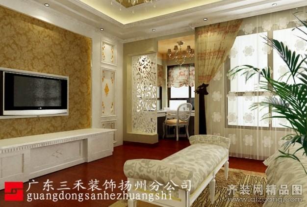 260平米别墅欧式风格家装装修图片设计-扬州齐装网