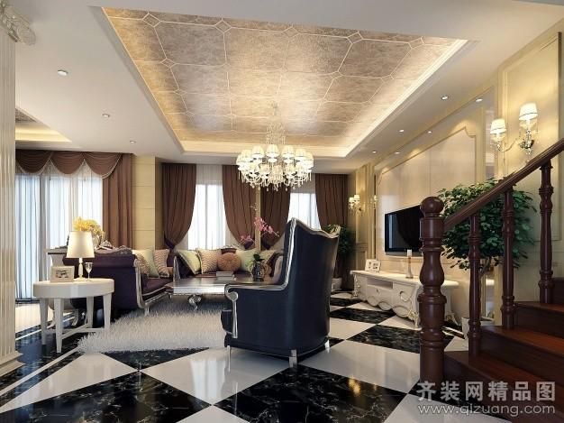 250平米跃层户型欧式风格家装装修图片设计-无锡齐装