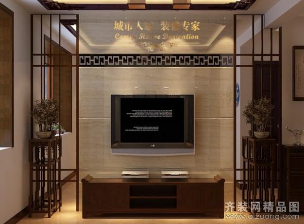 128平米普通户型中式风格家装装修图片设计-徐州齐装