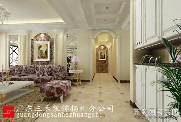 130平米普通户型欧式风格家装装修图片设计-扬州齐装