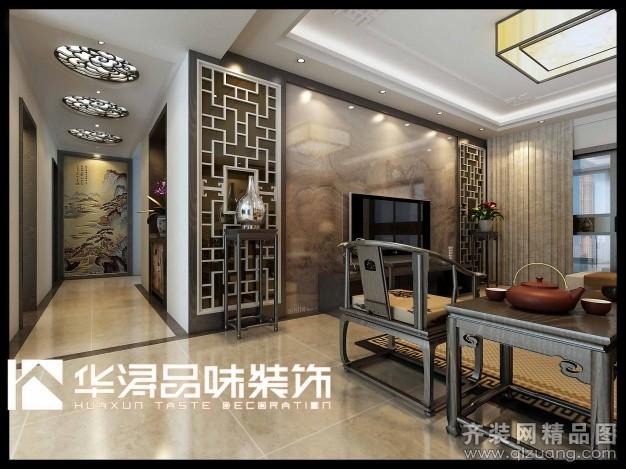 135平米普通户型中式风格家装装修图片设计-连云港齐