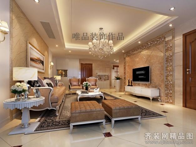 161平米普通户型欧式风格家装装修图片设计-吴江齐装