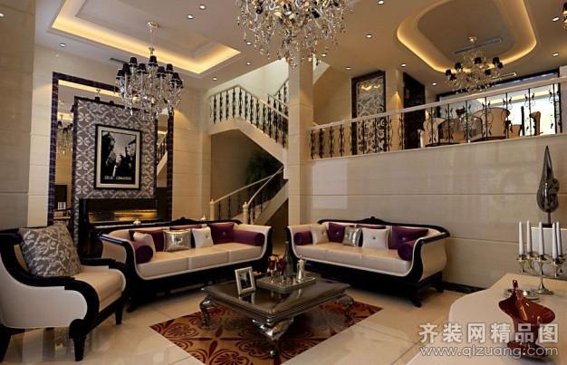300平米别墅欧式风格家装装修图片设计-宜兴齐装网