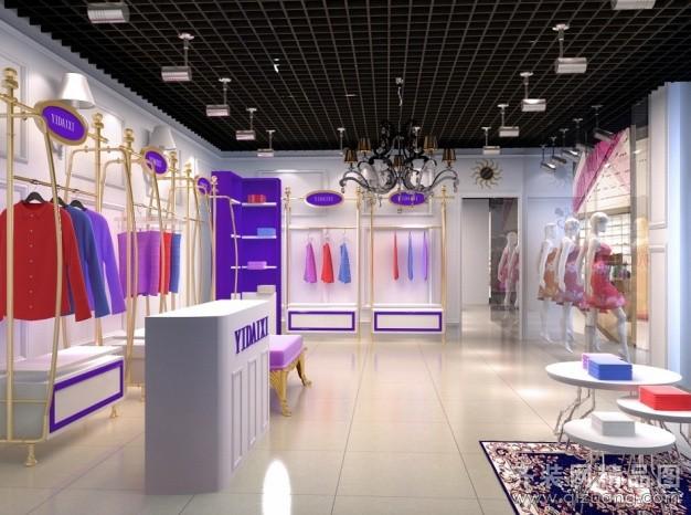 女装服装店现代简约装修效果图实景图