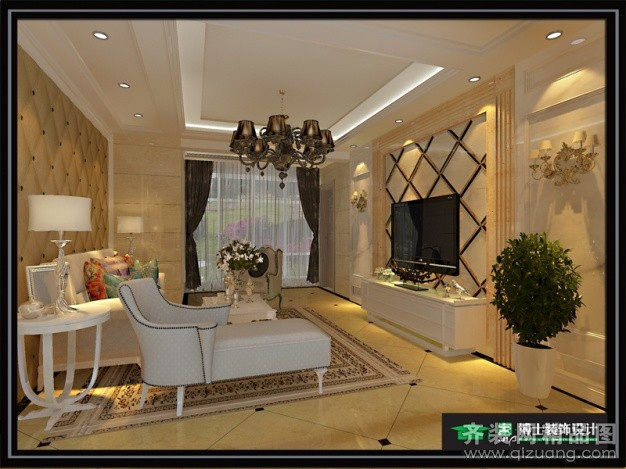 130平米普通戶型歐式風格家裝裝修圖片設計-張家港齊
