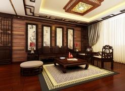长春实创装饰——保利林语320平中式风采别墅案例
