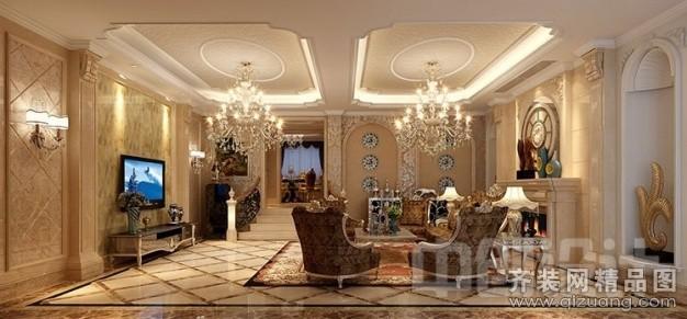 410平米别墅欧式风格家装装修图片设计-玉环齐装网