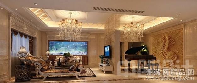 410平米别墅欧式风格家装装修图片设计-台州齐装网