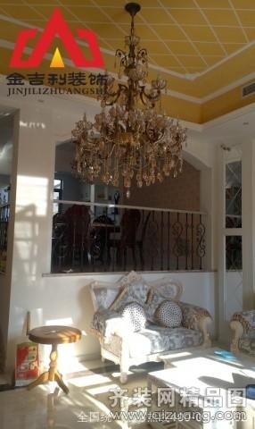 300平米别墅欧式风格家装装修图片设计-淮安齐装网