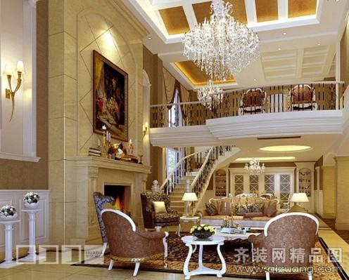 300平米跃层户型欧式风格家装装修图片设计-温州齐装