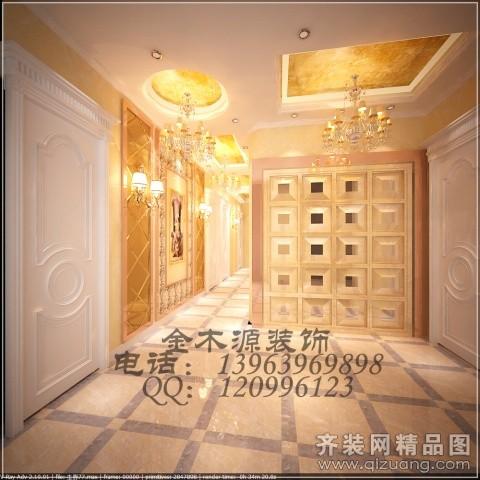 300平米普通户型欧式风格家装装修图片设计-青岛齐装