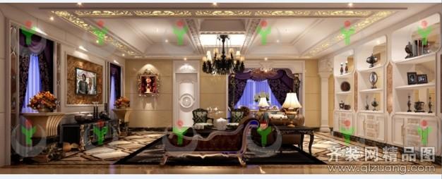 700平米别墅欧式风格家装装修图片设计-金华齐装网
