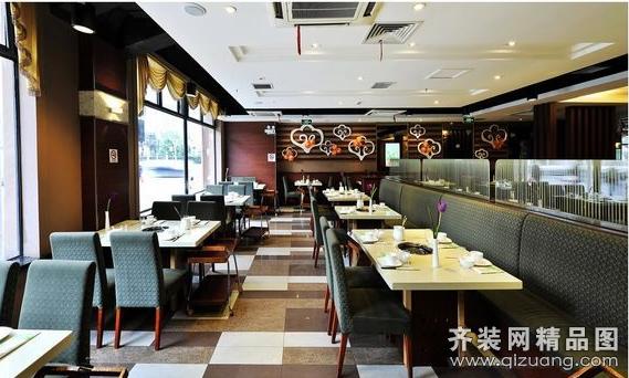 火锅店现代简约装修效果图实景图