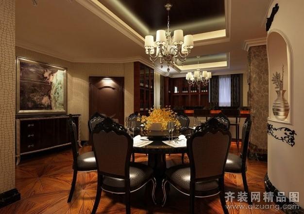 120平米别墅欧式风格家装装修图片设计-福州齐装网