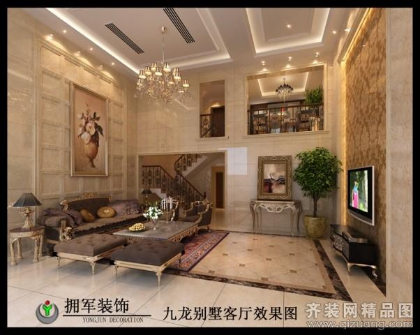 320平米别墅欧式风格家装装修图片设计-永康齐装网