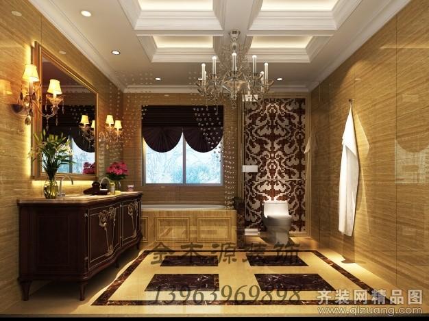 240平米别墅欧式风格家装装修图片设计-青岛齐装网