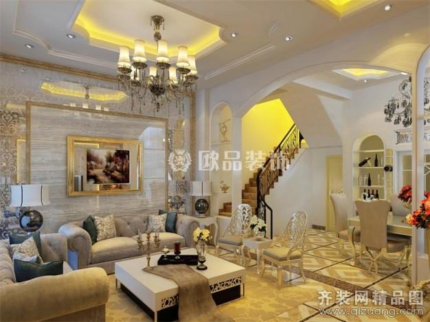 200平米别墅欧式风格家装装修图片设计-南通齐装网