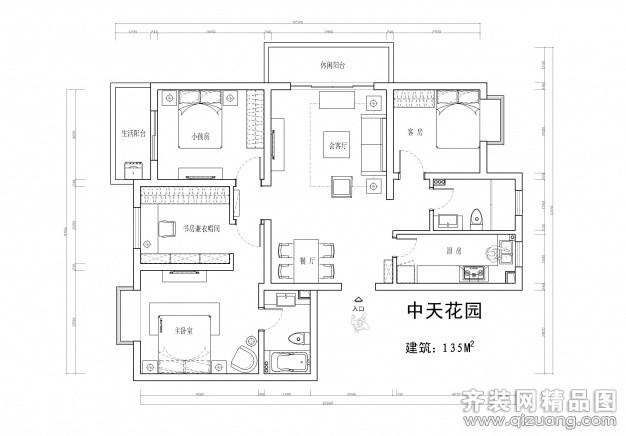 淮安中天花园135平米普通户型其他家装装修图片设计