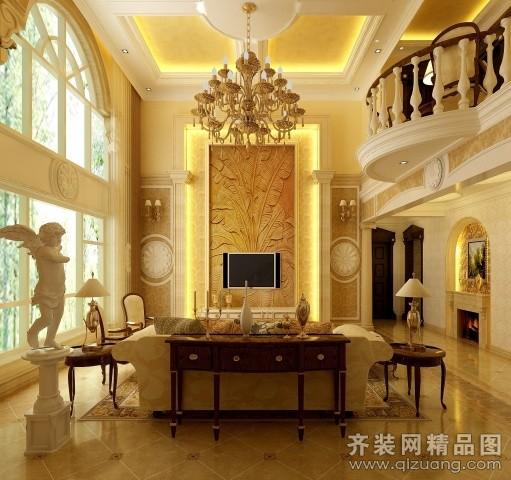 110平米别墅欧式风格家装装修图片设计-江都齐装网