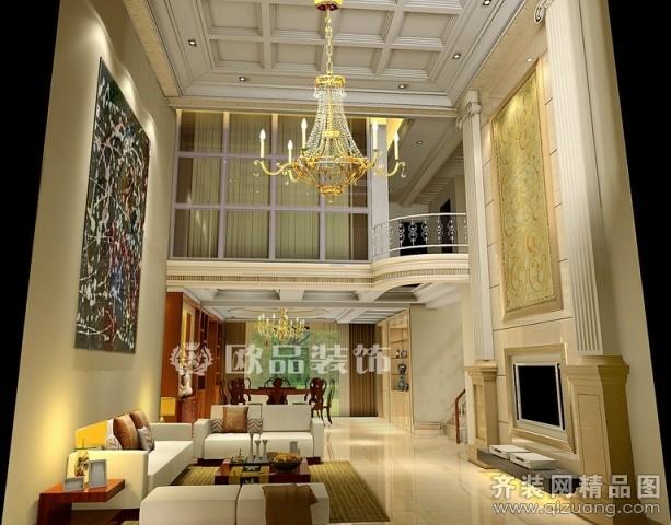 360平米别墅欧式风格家装装修图片设计-南通齐装网