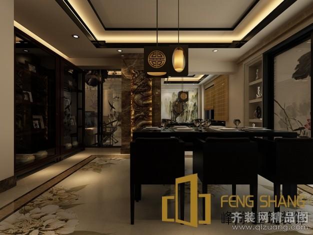 170平米别墅中式风格家装装修图片设计-合肥齐装网