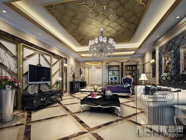 中海紫御公馆—烟台越尚装饰别墅大宅装修案例
