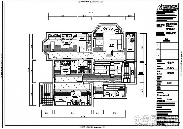 香格里拉花园美式风格设计图施工图