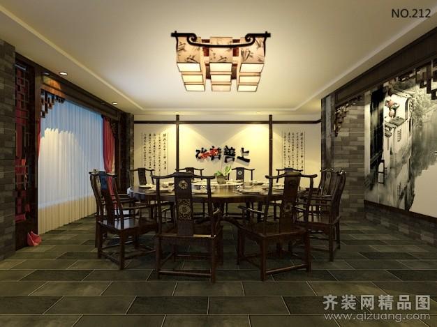 1200平米普通户型中式风格家装装修图片设计-温州齐