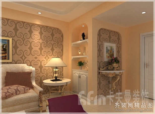 300平米复式户型欧式风格家装装修图片设计-青岛齐装