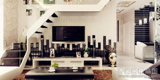 150平米复式户型现代简约家装装修图片设计-沈阳齐装