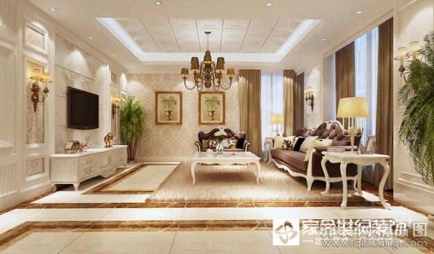 175平米别墅欧式风格家装装修图片设计-牟平齐装网