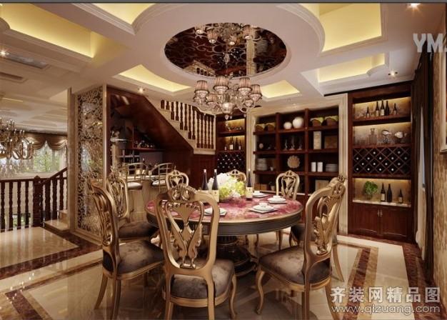 360平米别墅现代简约家装装修图片设计-金华齐装网