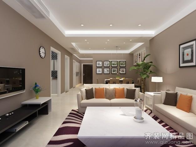 115平米普通户型现代简约家装装修图片设计-扬州齐装