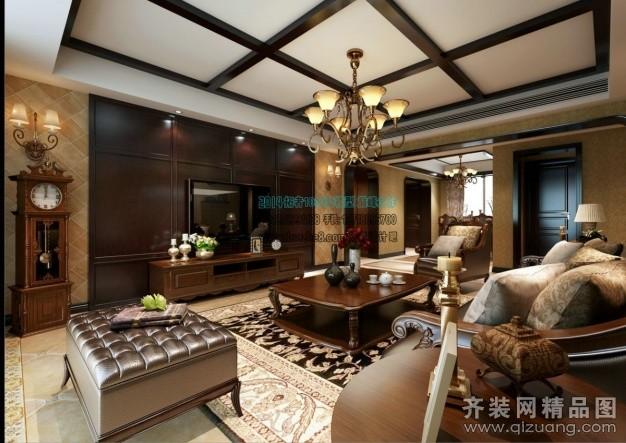 240平米跃层户型美式风格家装装修图片设计-连云港齐