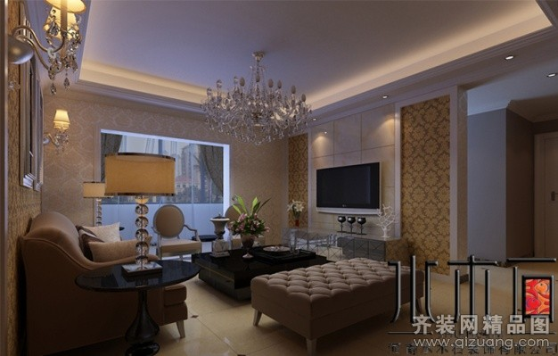 133平米普通户型欧式风格家装装修图片设计-郑州齐装