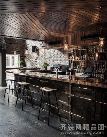工业风格酒吧现代简约装修效果图实景图