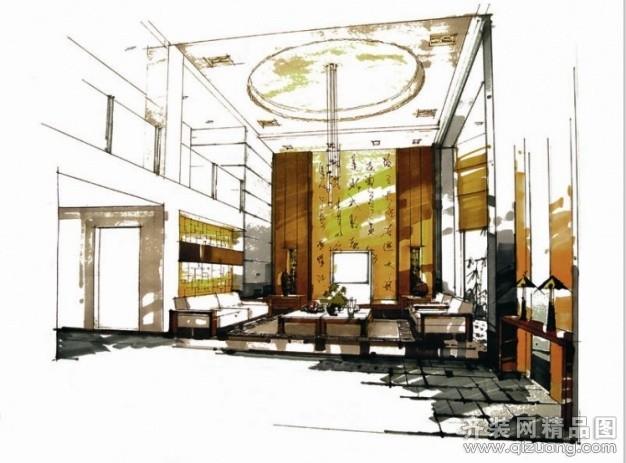 2800平米普通户型中式风格家装装修图片设计-杭州齐装