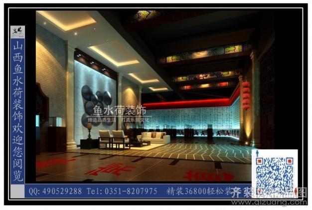 800平米其它中式风格家装装修图片设计-太原齐装网
